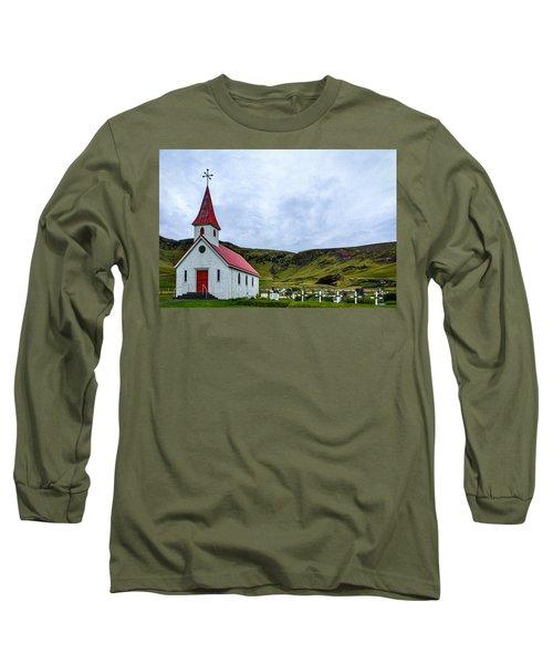 Vik Church And Cemetery - Iceland Long Sleeve T-Shirt