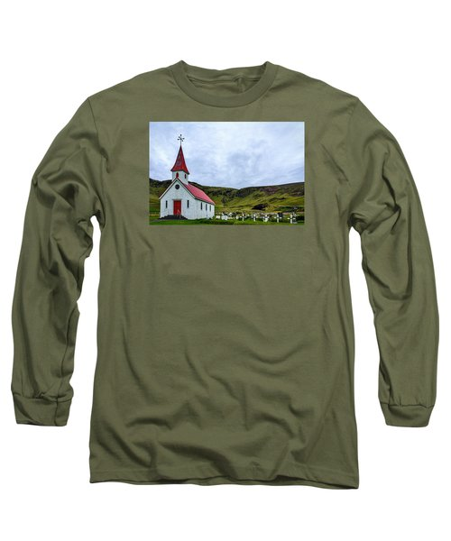 Vik Church And Cemetery - Iceland Long Sleeve T-Shirt
