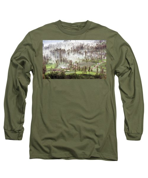 Village Covered With Mist Long Sleeve T-Shirt