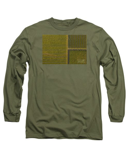 Vineyard From Above Long Sleeve T-Shirt by Diane Diederich