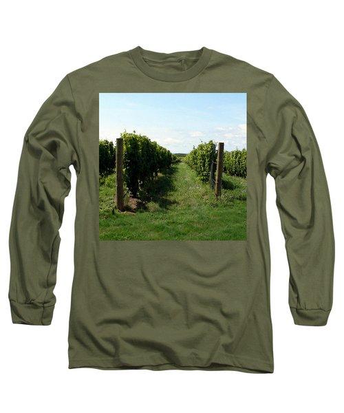 Vineyard On The Peninsula Long Sleeve T-Shirt