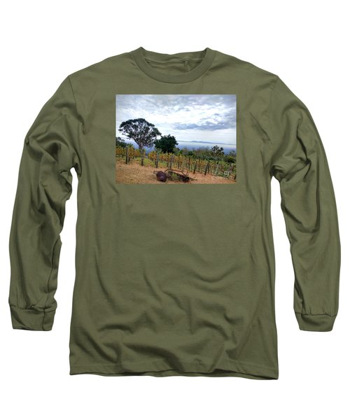 Long Sleeve T-Shirt featuring the photograph Vineyard Over The City by Haleh Mahbod