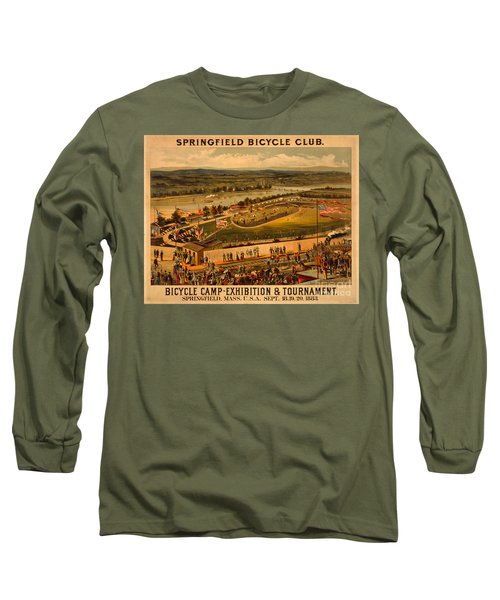 Long Sleeve T-Shirt featuring the photograph Vintage 1883 Springfield Bicycle Club Poster by John Stephens