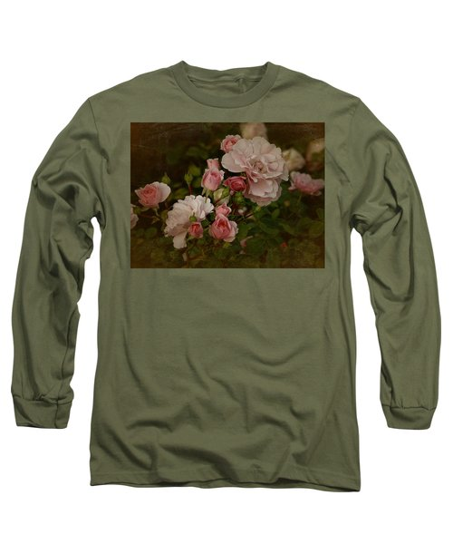 Long Sleeve T-Shirt featuring the photograph Vintage June 2016 Roses by Richard Cummings