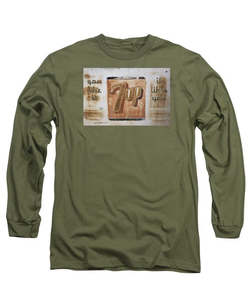 Long Sleeve T-Shirt featuring the photograph Vintage 7 Up Sign by Christina Lihani