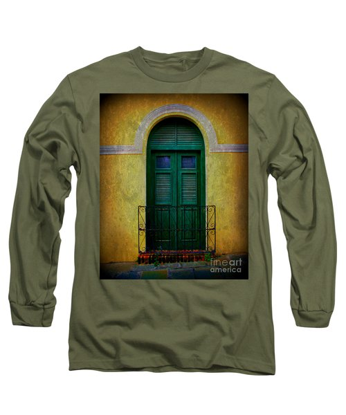 Vintage Arched Door Long Sleeve T-Shirt