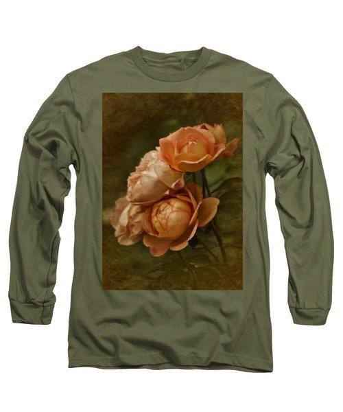 Vintage Aug Roses Long Sleeve T-Shirt