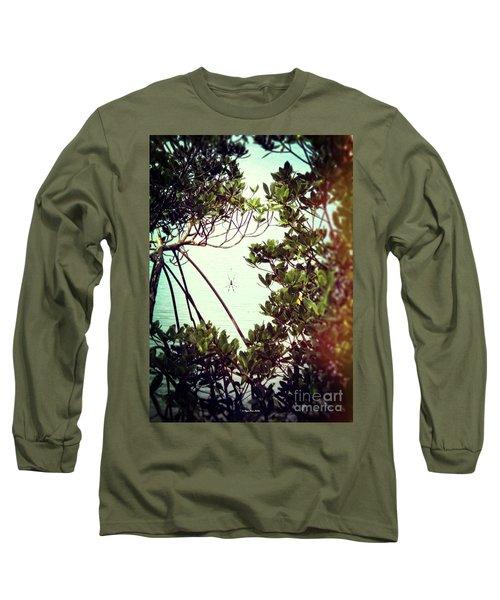 Long Sleeve T-Shirt featuring the digital art Vintage Banana Spider by Megan Dirsa-DuBois