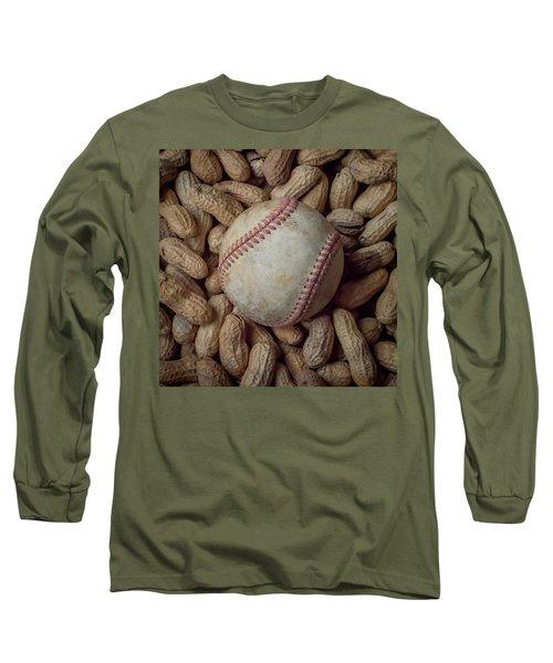 Vintage Baseball And Peanuts Square Long Sleeve T-Shirt