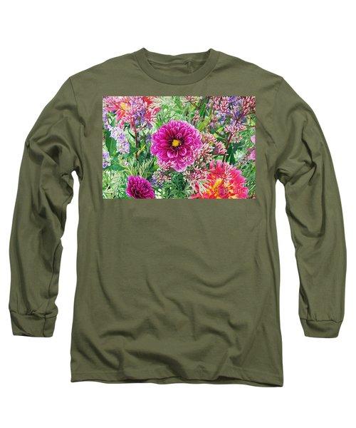 Vintage Brocade Long Sleeve T-Shirt by Byron Varvarigos
