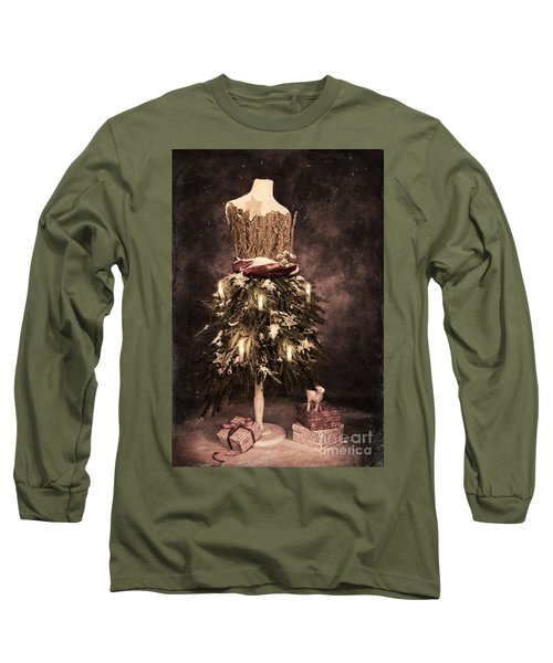 Vintage Christmas Card Long Sleeve T-Shirt