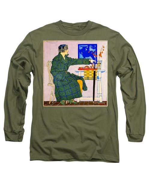 Vintage Clothing Advertisement 1910 Long Sleeve T-Shirt by Padre Art