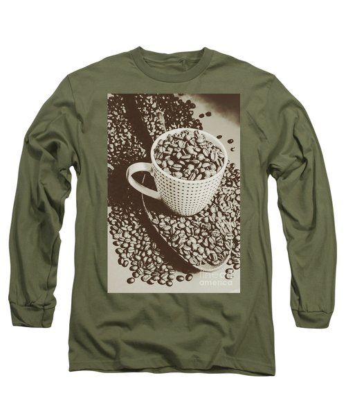 Long Sleeve T-Shirt featuring the photograph Vintage Coffee Art. Stimulant by Jorgo Photography - Wall Art Gallery