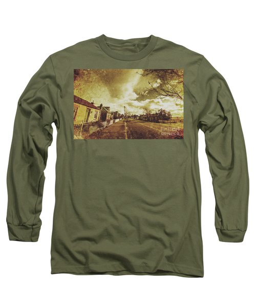 Vintage Colonial Street Long Sleeve T-Shirt