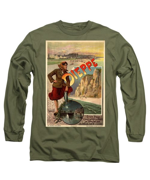 Vintage Dieppe Advertisement Long Sleeve T-Shirt by Andrew Fare