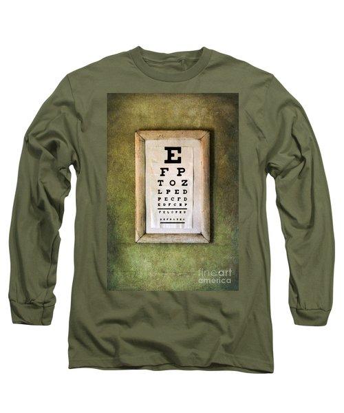 Vintage Eye Chart Long Sleeve T-Shirt