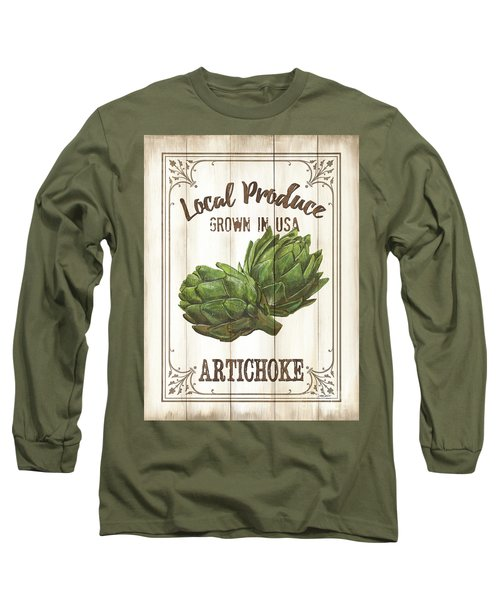 Long Sleeve T-Shirt featuring the painting Vintage Fresh Vegetables 2 by Debbie DeWitt