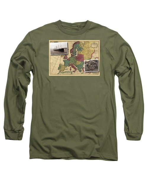 Vintage Map Europe Immigrants Long Sleeve T-Shirt