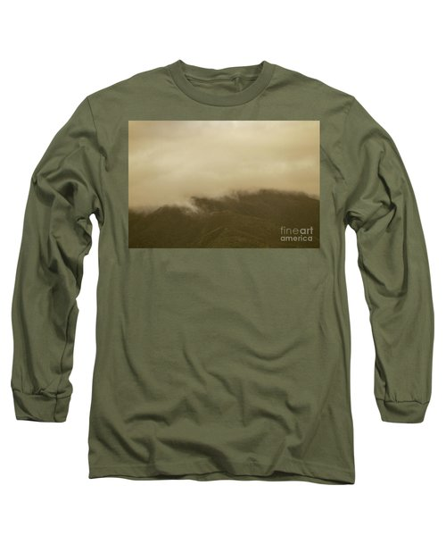 Vintage Mountains Covered By Cloud Long Sleeve T-Shirt