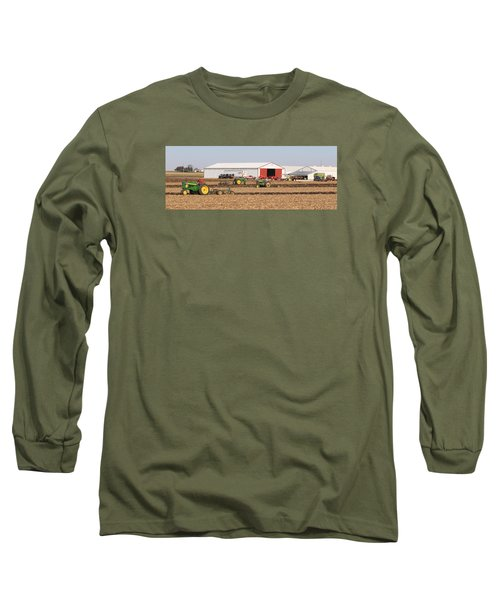 Vintage Plowing In Griswold Iowa Long Sleeve T-Shirt