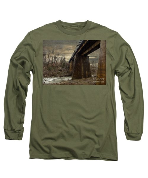 Vintage Railroad Trestle Long Sleeve T-Shirt by Melissa Messick