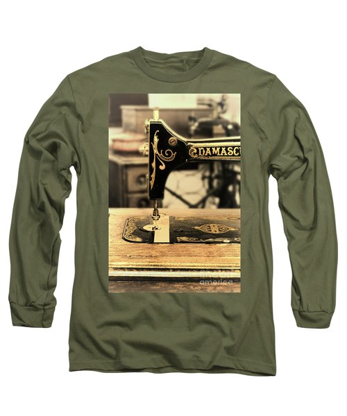 Long Sleeve T-Shirt featuring the photograph Vintage Sewing Machine by Jill Battaglia
