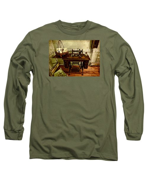 Vintage Singer Sewing Machine Long Sleeve T-Shirt by Judy Vincent