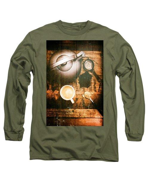 Vintage Tea Crate Cafe Art Long Sleeve T-Shirt