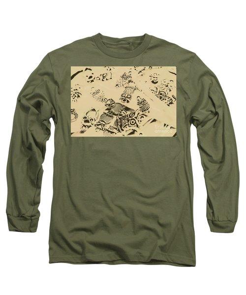 Vintage Toned Owls Long Sleeve T-Shirt