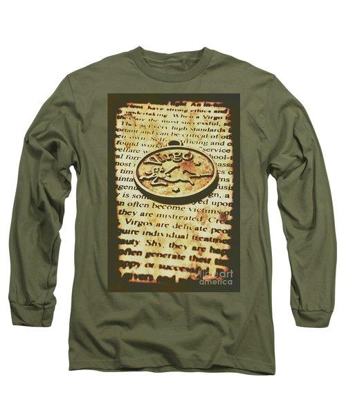 Vintage Virgo Token Scroll Long Sleeve T-Shirt