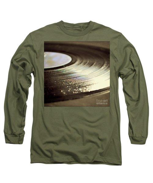 Vinyl Record Long Sleeve T-Shirt by Lyn Randle