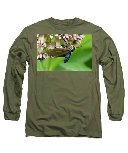 Virginia Ctenucha Moth Long Sleeve T-Shirt