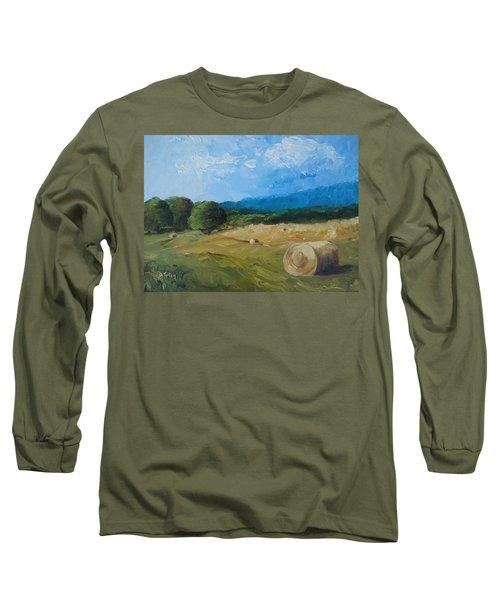 Virginia Hay Bales II Long Sleeve T-Shirt