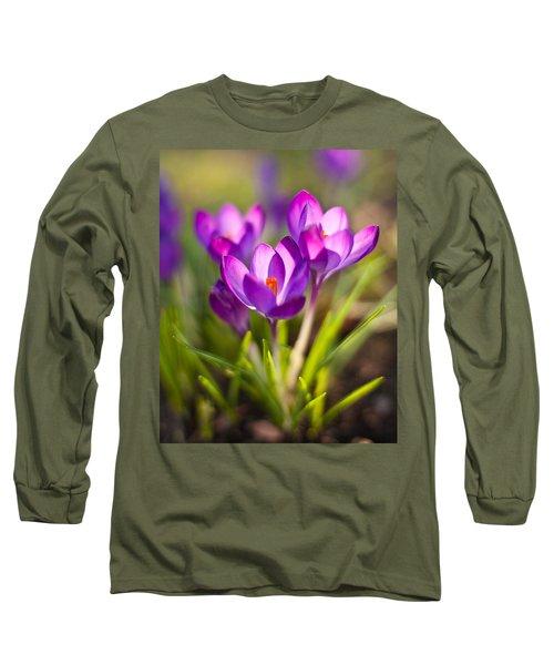 Vivid Petals Long Sleeve T-Shirt