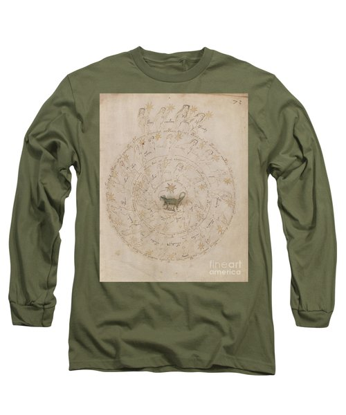 Voynich Manuscript Astro Scorpio Long Sleeve T-Shirt