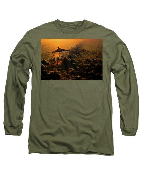Vulcan Bomber Sunset Long Sleeve T-Shirt by Ken Brannen