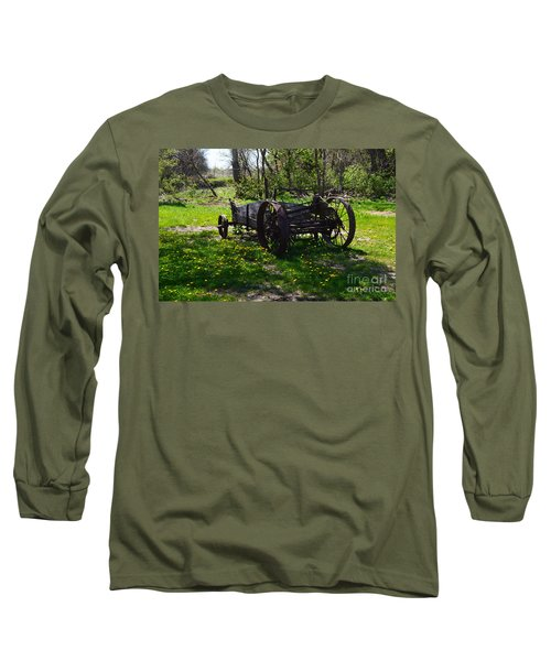 Wagon And Dandelions Long Sleeve T-Shirt by Renie Rutten