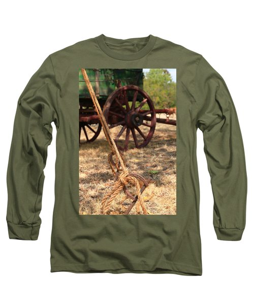 Wagon Stake Long Sleeve T-Shirt by Toni Hopper