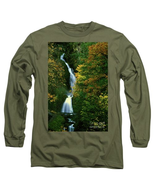 Wahkeena Falls Waterfall Long Sleeve T-Shirt