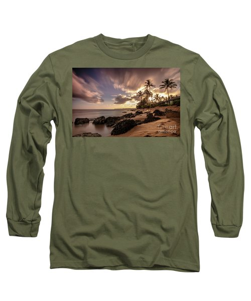 Wainiha Kauai Hawaii Sunrise  Long Sleeve T-Shirt