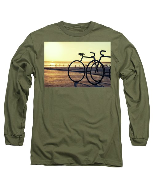 Waiting For A Rider Long Sleeve T-Shirt by Joseph S Giacalone