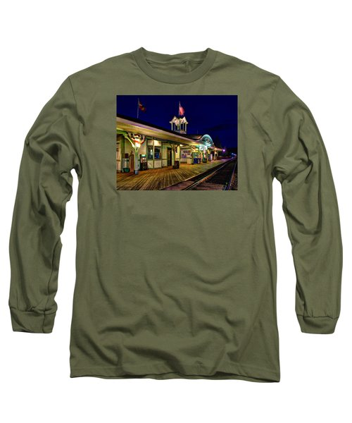 Waiting For A Train 023 Long Sleeve T-Shirt