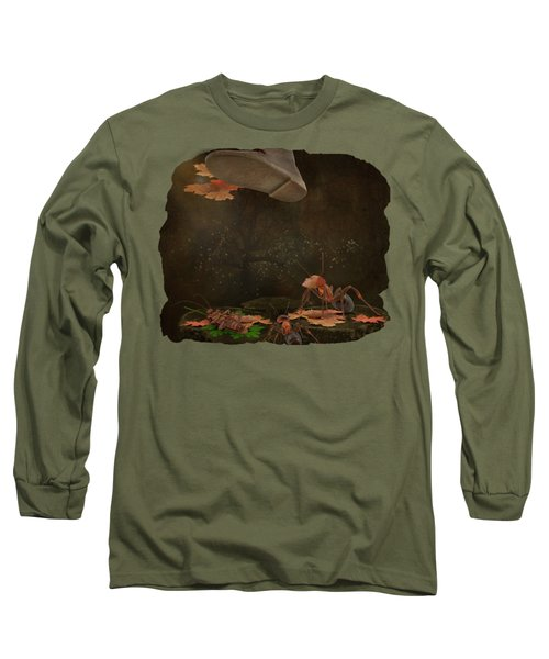 Waiting For The Other Shoe To Drop Long Sleeve T-Shirt by Terry Fleckney