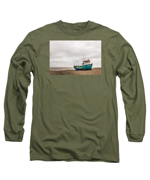 Waiting For The Tide Long Sleeve T-Shirt by David Warrington