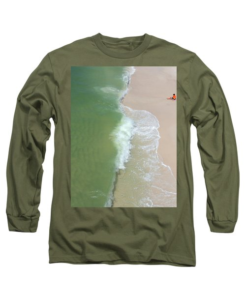 Waiting For The Wave Long Sleeve T-Shirt by Teresa Schomig