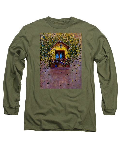 Long Sleeve T-Shirt featuring the painting Waiting For You..3 by Cristina Mihailescu