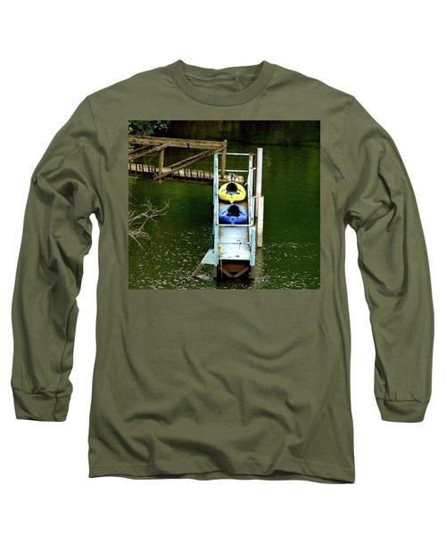 Waiting To Kayak Long Sleeve T-Shirt