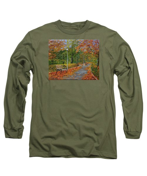 Walk In The Park Long Sleeve T-Shirt by Mike Caitham