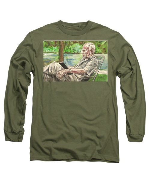 Walker Percy At The Lake Long Sleeve T-Shirt