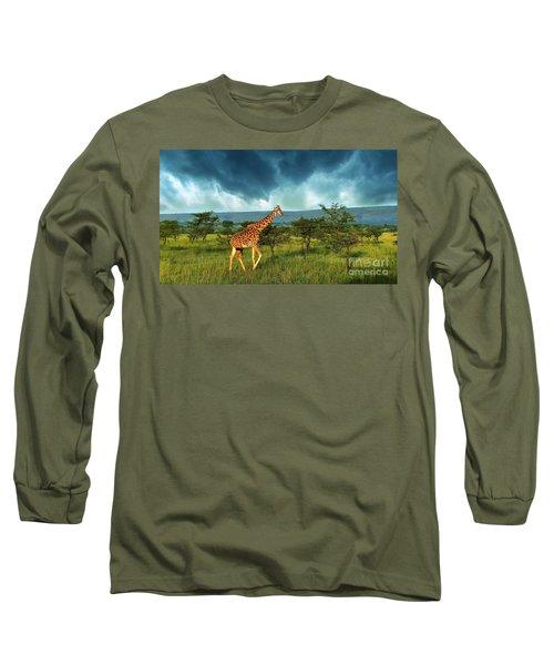 Walking Alone Long Sleeve T-Shirt